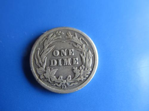 1912 D Barber Dime 90% Silver Very Good VG