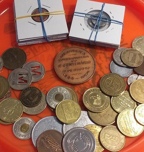 1954 Brazil Medal & 40 Token Mix