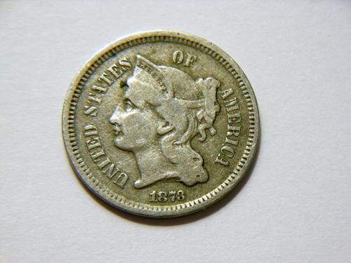 1873 (Closed 3) 3 Cent Nickel
