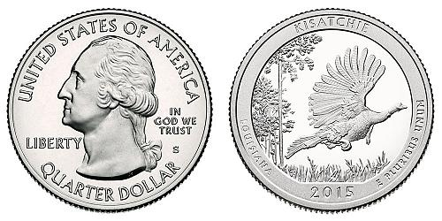 2015-S KISATCHIE NAT'L FOREST FROM PROOF SET  B-7-21