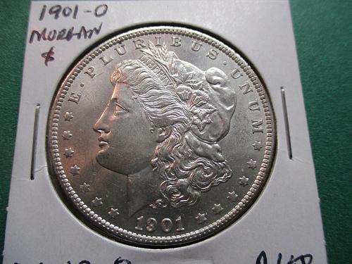 1901-O  AU58 Morgan Dollar.  Item: DM 01O-08.