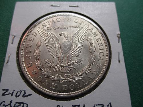 1921  AU53 Morgan Dollar.  Item: DM 21-13.