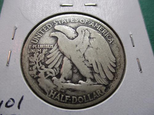 1917  G6 Walking Liberty Half Dollar.  Item: 50 W17-05.