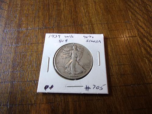 1939 p walking liberty half dollar cir