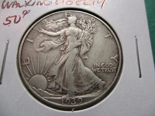 1939  VF30 Walking Liberty Half Dollar.  Item: 50 W39-05.
