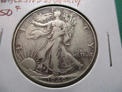 1940  VF35 Walking Liberty Half Dollar.  Item: 50 W40-04.