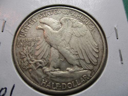 1944  VF35 Walking Liberty Half Dollar.  Item: 50 W44-06.