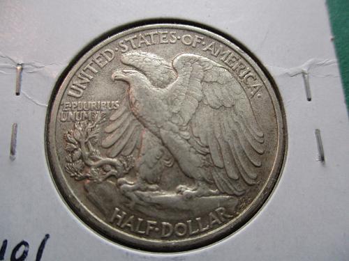 1947  AU55 Walking Liberty Half Dollar.  Item: 50 W47-04.