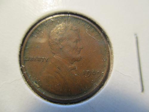 1909 VDB  VF25 Lincoln Cent.  Item: 1 L09VDB-07.
