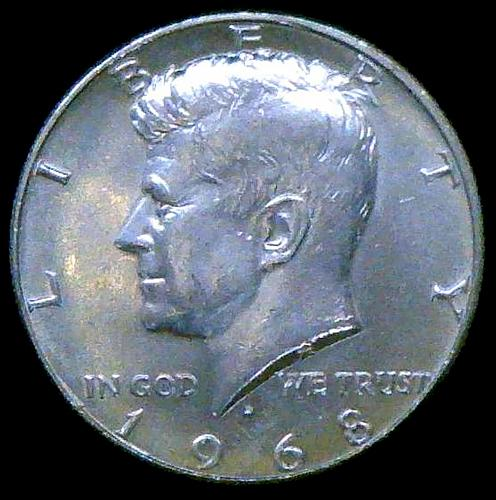 1968 D Kennedy Half Dollars 40% Silver Composition V2P9R3