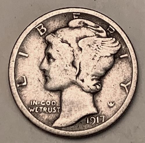1917-S Mercury Dime F [BMRD 238]