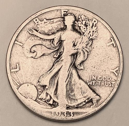 1933-S Walking Liberty Half Dollar F [WL 219]