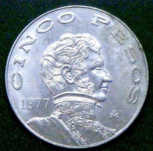 1977 5 Pesos (5 MXP)  V2P15R3