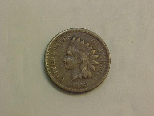 1859 INDIAN CENT COPPER NICKEL       aj02