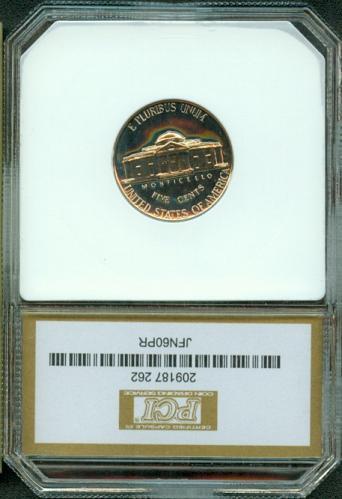 1960  JEFFERSON  NICKEL    PCI  PR68DCAM