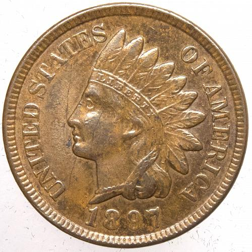 1897 P Indian Head Cent #28