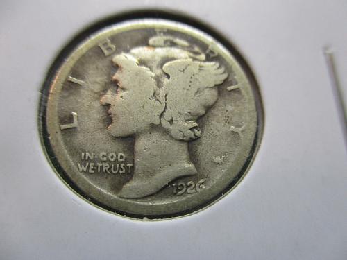 1926-D  G4 Mercury Dime.  Item: 10 M26D-01.
