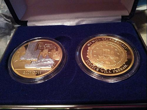 2001-2011 Twin Towers 2 Coin Bi Metallic Set