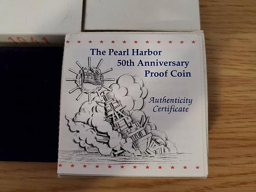 Pearl Harbor 50th Anniversary Proof Coin