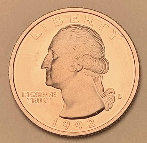 1992-S Proof Washington Quarter [BSWQ 562]
