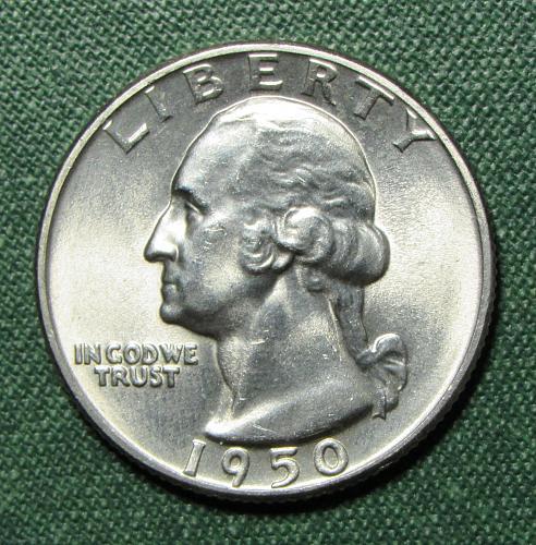 1950P Washington Silver Quarter