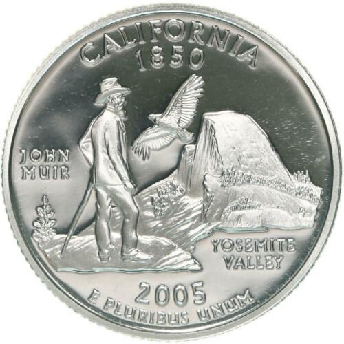 2005  S SILVER  PROOF   CALIFORNIA    WASHINGTON QUARTER