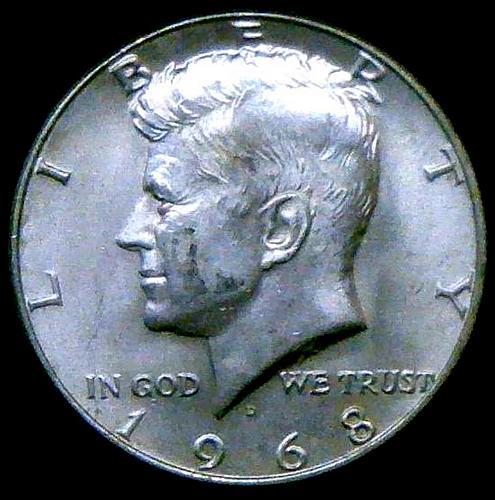 1968 D Kennedy Half Dollars 40% Silver Composition V2P15R5