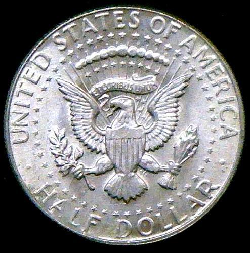 1968 D Kennedy Half Dollars 40% Silver Composition V2P16R1