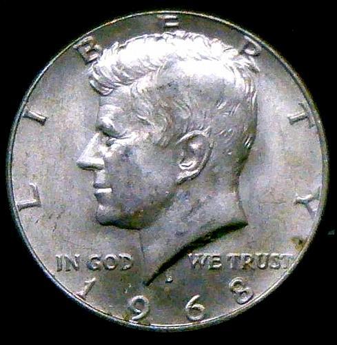 1968 D Kennedy Half Dollars 40% Silver Composition V2P16R2