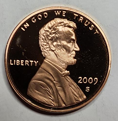 2009-S Type 1 Lincoln Cent Proof-65 (GEM) RED