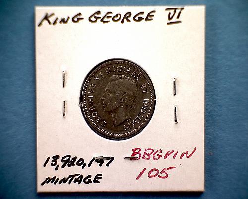 "1940 CANADA FIVE CENTS  KING GEORGE V1  ""WORLD WAR 11"""
