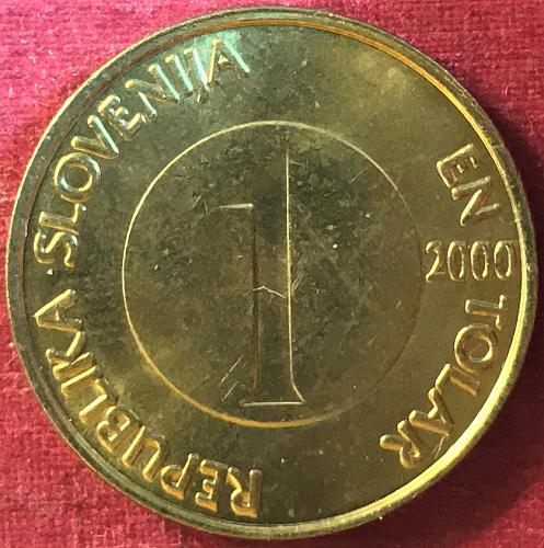 Slovenia - 2000 - 1 Tolar [#2]