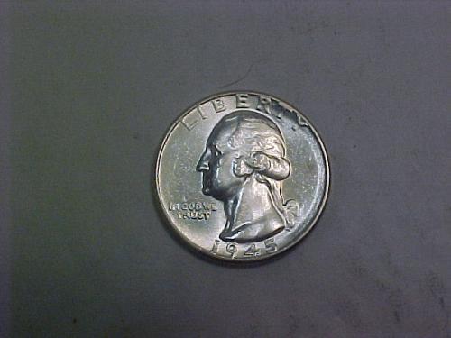 1945 WASHINGTON QUARTER           aj27