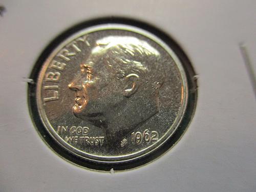 1962  PR65+  Roosevelt Dime.  Item: 10 R62P-05.