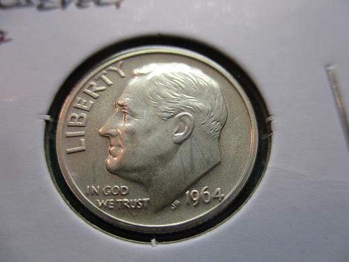 1964  PR63  Roosevelt Dime.  Item: 10 R64P-05.