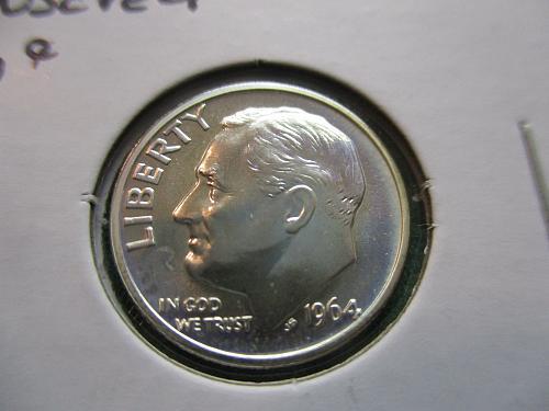 1964  PR65  Roosevelt Dime.  Item: 10 R64P-06.
