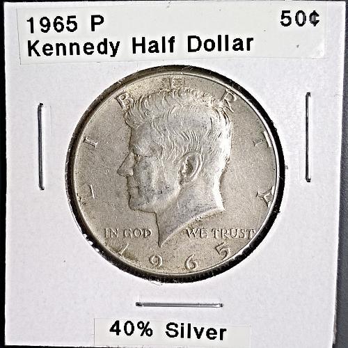 1965 P Kennedy Half Dollar - 4 Photos!
