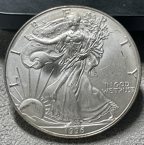 1996-P US American .999% Silver Eagle US 1 Troy Oz.