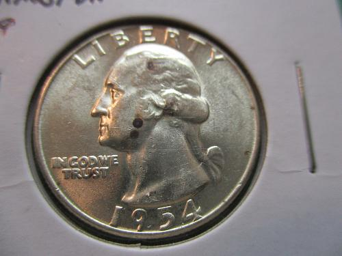 1954  MS63 Washington Quarter.  Item: 25 W54-04.