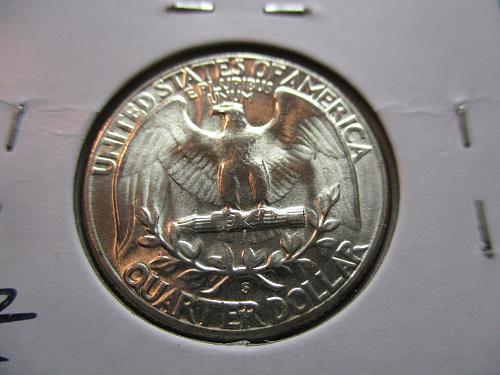 1954-S  MS64 Washington Quarter.  Item: 25 W54S-05.