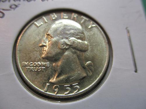 1955-D  MS65 Washington Quarter.  Item: 25 W55D-04.