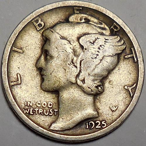 1925-P Mercury Dime
