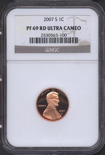 2007-S  LINCOLN  CENT   NGC   PF69RD UCAM