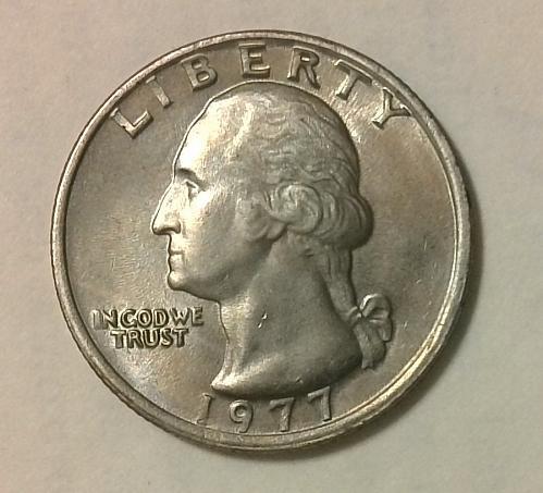 1977 P Washington Quarter 6341