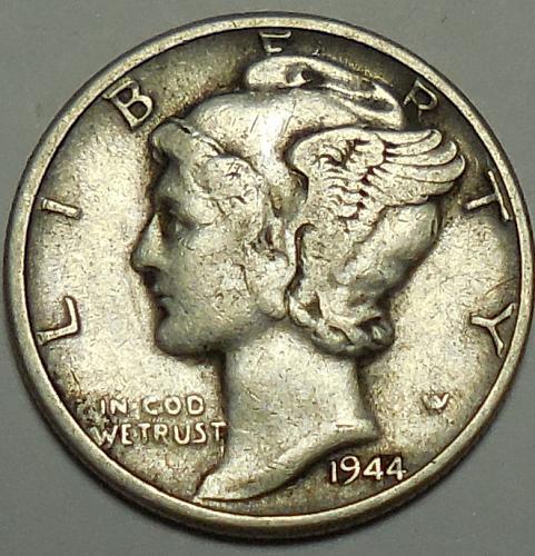 1944-P Mercury Dime