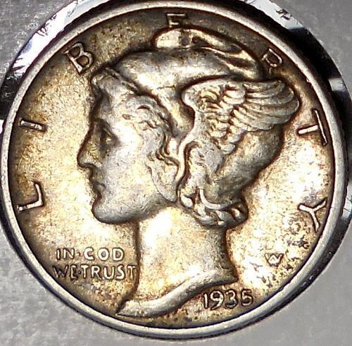 1935-P Mercury Dime