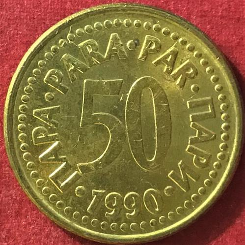 Yugoslavia - 1990 - 50 Para
