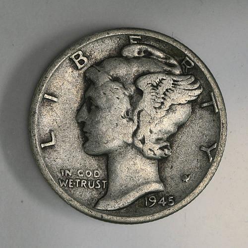 1945 P Mercury Dime VG