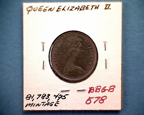 1971  GREAT BRITAIN  FIVE NEW PENCE  QUEEN ELIZABETH 11