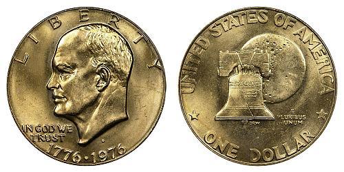 1976-P EISENHOWER TYPE 1 DOLLAR FROM UNC MINT SET  B-17-21
